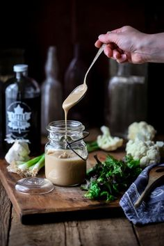 This Maple Tahini Dressing is so good and just in time for Salad Month. It is vegan, gluten-free and paleo. And is ready in just 10 minutes! Healthy Seasonal Recipes   Katie Webster