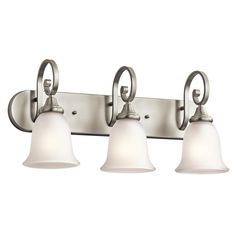 Kichler 45055NIL16 - Monroe Bath 3Lt LED in Brushed Nickel