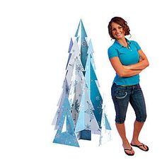 Add this Snowflakes and Diamonds Tree Prop to your winter party! Each Snowflake and Diamond Tree Prop is printed on cardboard measuring 5 feet high.