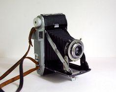 1940s Kodak Tourist Camera 620 Film Camera Folding Bellows Vintage Electronics Silver Home Decor Industrial Style Photography Prop by CalloohCallay on Etsy https://www.etsy.com/listing/200606836/1940s-kodak-tourist-camera-620-film