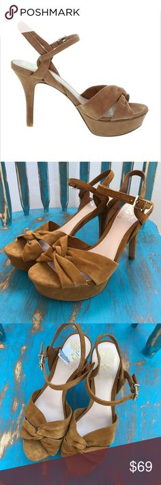 Vince Camuto suede & leather heels NEW Gorgeous Vince Camuto brown suede and leather heels. Brand new, never worn. Box not included. Women's size 6. Vince Camuto Shoes Heels
