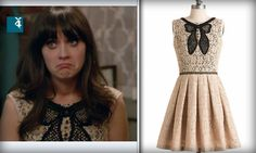 """zooey wore this modcloth dress on new girl (""""landlord"""" episode)  http://www.modcloth.com/shop/dresses/in-love-with-life-dress"""