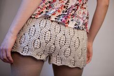 Patrones Crochet: Pantalon Corto Mini Short de Crochet