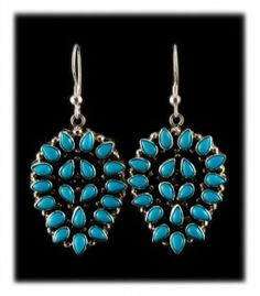 Arizona Turquoise Cluster Drop Earrings
