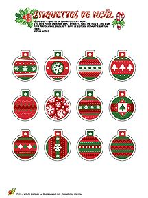 FREE printable Christmas bauble tags / ornaments