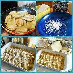 Finocchi gratinati in crema di funghi e formaggio