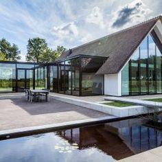 Pent House, My House, Building Design, Building A House, Steel Frame Construction, Contemporary Barn, Dream House Exterior, Modern Exterior, Glass House