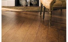 Lowes allen + roth Handscraped Saddle Hickory