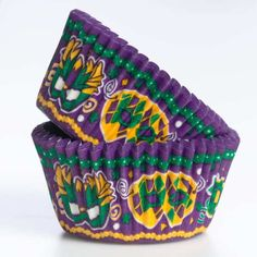 Kind Arthur Flour's Mardi Gras Greaseproof Cupcake Papers, item #4734MARDIS.  To go with your Mardi Gras cupcakes!