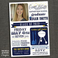 BBQ Graduation Invite