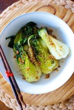 pak choy with sesame, ginger and soy sauce Sprout Recipes, Veggie Recipes, Asian Recipes, Healthy Recipes, Chou Pak Choi, Col China, Pak Choy, Food Alert, Steamer Recipes