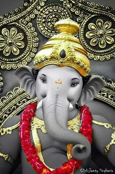 Chandra, who is also known as Soma and Indu, is the basis of Somvaar Ganesh Lord, Sri Ganesh, Lord Shiva, Elephant Meaning, Ganesha Pictures, Ganesh Images, Lord Ganesha Paintings, Ganesh Idol, Ganesh Wallpaper