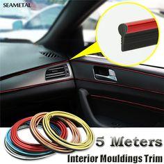 5M Universal Car Styling Flexible PVC Interior Internal Decoration Moulding Trim Decorative Strips Line DIY Sticker Car-Styling