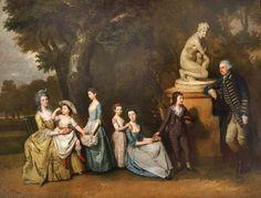 The Mathew Family at Felix Hall, Kelvedon, Essex Johann Zoffany National Trust, Clandon Park Clandon Park, 18th Century Fashion, Art Uk, French Artists, Art Fair, Halle, Family Portraits, New Art, Contemporary Art