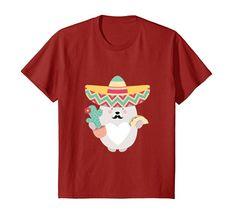 MEXICAN SHIRT: CUTE BEAR WITH CACTUS & TACO confetti.friends