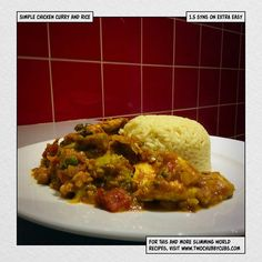syn chicken curry & rice - Slimming World recipe Two Chubby Cubs… Healthy Meals For Two, Healthy Eating Recipes, Healthy Chicken Recipes, Gourmet Recipes, Chicken Recipes Video, Curry Dishes, Slimming World Recipes, Crock Pot Cooking, Curry Recipes