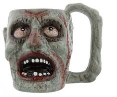 Ebros Gift Ebros Walking Dead Impaled Zombie Head Ceramic Coffee Mug With Peeling Flesh And Bloodshot Eyes Beer Stein Beverage Tankard Drinking Cup Zombie Apocalypse Collection Zombie Head, Zombie Face, Best Zombie, Beer Mugs, Coffee Mugs, Bloodshot Eyes, Zombie Gifts, Best Beer, Zombie Apocalypse