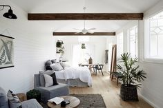 Bungalow Living Room Decoration decorating tips for living room Bungalow Living Rooms, Living Room Decor, Living Spaces, Tiny Living, Byron Bay Accommodation, Luxury Accommodation, Byron Beach, Cottage Windows, Mcm House
