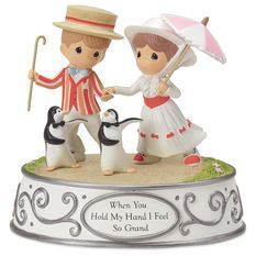 Precious Moments® Mary Poppins and Penguins Musical Figurine - Figurines - Hallmark