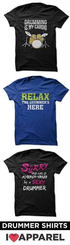 Check out our huge selection of drummer and drummer fan shirts.