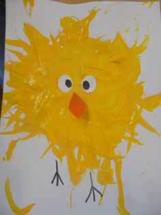 April crafts for kids 93096 - One Daycare Crafts, Toddler Crafts, Crafts For Kids, Easter Arts And Crafts, Spring Crafts, Color Wars, Handprint Art, Bird Crafts, Easter Activities