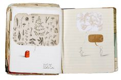 beauty, Oliver Jeffers sketch book. So stunning.
