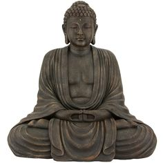 A breathtaking reproduction in high-quality resin of an authentic Japanese statue, this Buddha sits contentedly in peaceful meditation. This Buddha statue is a delight to behold and is perfect for a home, yoga studio, restaurant or garden. Lotus Position, Sitting Buddha, Easy Meditation, Meditation Space, Oriental Furniture, Oriental Decor, Gautama Buddha, Red Lantern, Buddhist Art