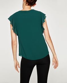RIBBED NECK TOP WITH CONTRASTS-View all-TOPS-WOMAN | ZARA United States