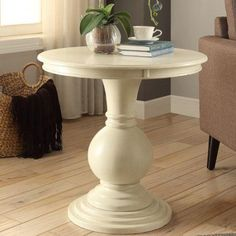 Acme Alyx Side Table, Multiple Colors, White