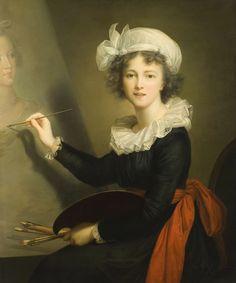 Self - portrait of my favorite painter Louise Élisabeth Vigée Le Brun (Marie Élisabeth Louise; 16 April 1755 – 30 March 1842) was a French painter, and is recognized as the most important female painter of the 18th century.