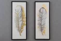Modern Canvas Art, Diy Canvas Art, Gold Leaf Art, Hanging Paintings, Africa Art, Abstract Line Art, Feather Art, Painting & Drawing, Muebles Home