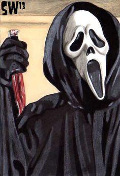 Postcard Slashers - Ghostface by Scott Watson
