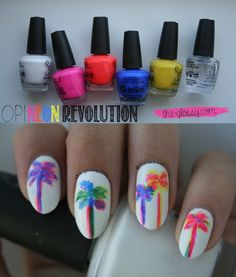 Trippy, technicolor, tropical palm trees? Yes, please! Click through for more!