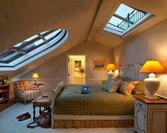 Design Your Home in Unique England Interior Design Style Funky Bedroom, Cozy Bedroom, Bedroom Decor, Bedroom Loft, Master Bedroom, Loft Room, Design Your Home, Home Interior Design, House Design