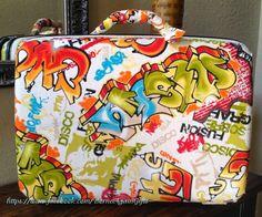 FINALLY! An excuse to splurge on this fun fabric from Spain!!! Borne Again Gifts & Treasures: Graffiti Fun!