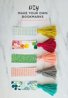 When you love an excellent e book, then you definately'll love these cute DIY bookmarks that can assist you save your house. Obtain this FREE bookmark printable from Suppose.Share to make your individual colourful handmade bookmark. Tassel Bookmark, Bookmark Craft, Bookmark Ideas, Creative Bookmarks, Diy Bookmarks, Free Printable Bookmarks, How To Make Bookmarks, Crochet Bookmarks, Diy Tassel