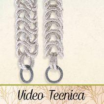 VIDEO TECNICA - HobbyPerline.com - Il negozio per la bigiotteria Fai da Te Chainmaille, Photo Pattern, Wire Wrapping, Videos, Diy Jewellery, Jewelry, Beads, Creative, Tutorials