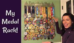 Disney Races, Run Disney, Half Marathon Training, Marathon Running, Hanging Medals, Race Medal Displays, Running Humor, Running Tips, Medal Rack