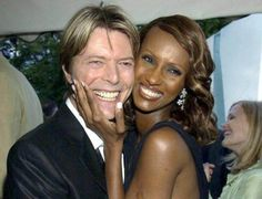 Mandatory Credit: Photo by RICHARD YOUNG/REX/Shutterstock (385309c) DAVID BOWIE AND WIFE IMAN SERPENTINE GALLERY SUMMER PARTY IN ASSOCIATION WITH FRENCH CONNECTION, LONDON, BRITAIN - 09 JUL 2002