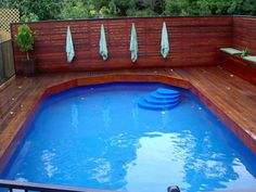 Above Ground Pool with deck. Awesome