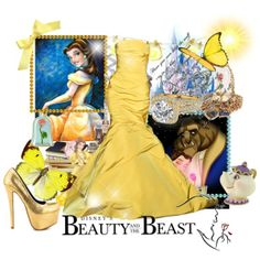 """dress like your favorite disney character: belle"" by slaimankhel on Polyvore"