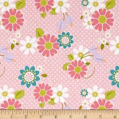 Riley Blake Dream and a Wish Floral Pink from @fabricdotcom  Designed by Sandra Workman for Riley Blake, this cotton print is perfect for quilting, apparel and home decor accents. Colors include pink, white, green, purple, orange, yellow and teal.