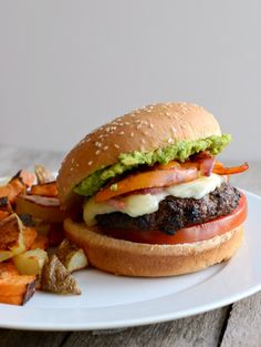 The Ultimate Fajita Burger- burgers are a must but what if we buy ground meat instead of ready made...?