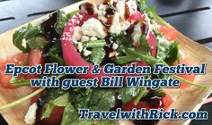 Epcot International Flower & Garden Festival with guest Bill Wingate. You all asked for more of the Epcot Flower & Garden Festival so we went back to try out three more marketplaces. My friend and travel agent from Kingdom Magic Vacations and Must Love Travel, Bill Wingate is with me and we try out food and beverages from the Urban Farm Eats, La Isla Fresca and the Jardin De Fiestas marketplaces!