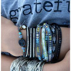 Rock star gray. Bohemian bracelets at Muak. www.muak.ch