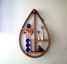 Vintage Large Bentwood Shelf Danish Modern by MidCenturyMary
