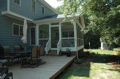 Screened Porch Ideas - traditional - porch - raleigh - by Blue Ribbon Residential Construction, Inc.