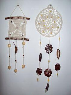 tejido crochet y artesanías: Atrapasueños y colgantes tejidos Crochet Home Decor, Crochet Crafts, Crochet Doilies, Crochet Projects, Mandala Crochet, Filet Crochet, Crochet Stitches, Knit Crochet, Crochet Patterns