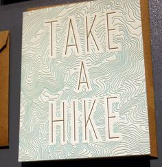 Take a Hike, love the texture