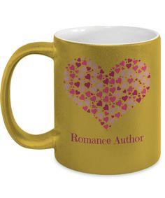 Romance Author Metallic Mug Gift Mugs, Gifts In A Mug, Romance Authors, Novelty Gifts, Reading Lists, Writing Tips, Libraries, Writers, Metallic